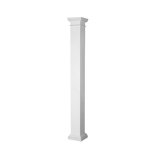 """73824 Turncraft Poly FRP 10"""" Duraglass Square Non-Tapered Column"""