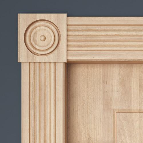 "B740 White Hardwood Corner Block 27/32"" x 4-1/2"""