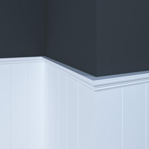 "10039 White Hardwood Picture Frame 27/32"" x 3/4"""