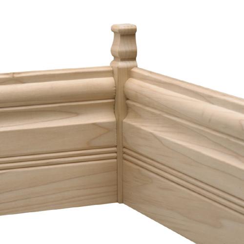 """B895 White Hardwood Moulding Blocks 7/8"""" x 7/8"""""""