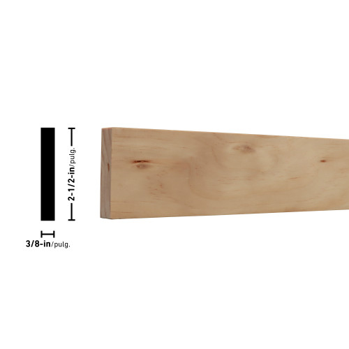 "38X3 Clear Radiata Pine Board 3/8"" x 2-1/2"""