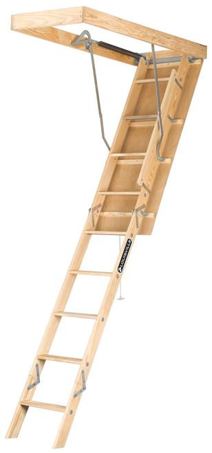 "L224P - Premium Wood Attic Ladder - 22-1/2"" x 54"" x 10'"