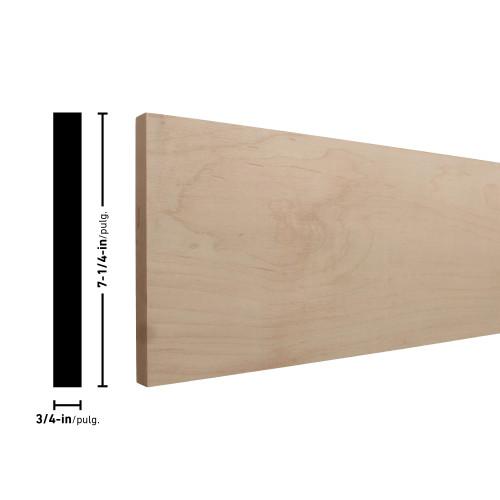 """H1X8 Maple Board - 3/4"""" x 7-1/4"""""""