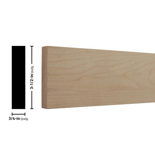 """H1X4 Maple Board - 3/4"""" x 3-1/2"""""""