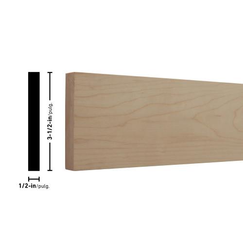 """H12X4 Maple Board - 1/2"""" x 3-1/2"""""""
