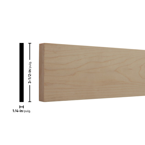 """H14X4 Maple Board - 1/4"""" x 3-1/2"""""""