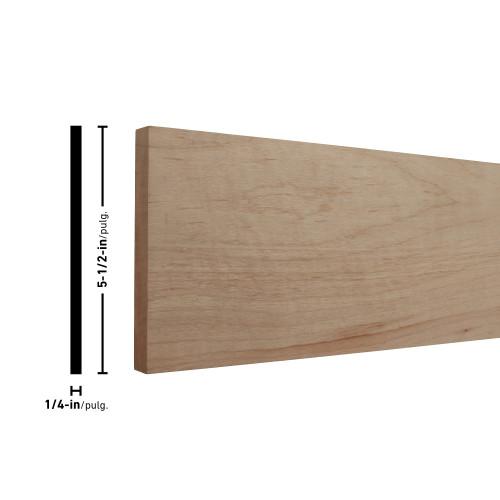 """H14X6 Maple Board - 1/4"""" x 5-1/2"""""""