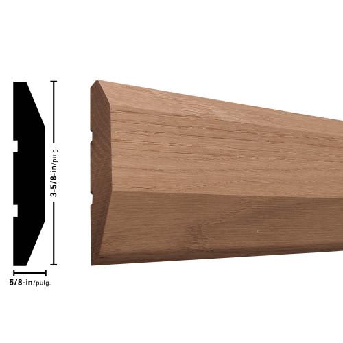 """358 Oak Saddle Threshold - 5/8"""" x 3-5/8"""""""