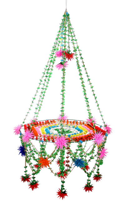 Star Paper Chandelier Grande - Green multi-color