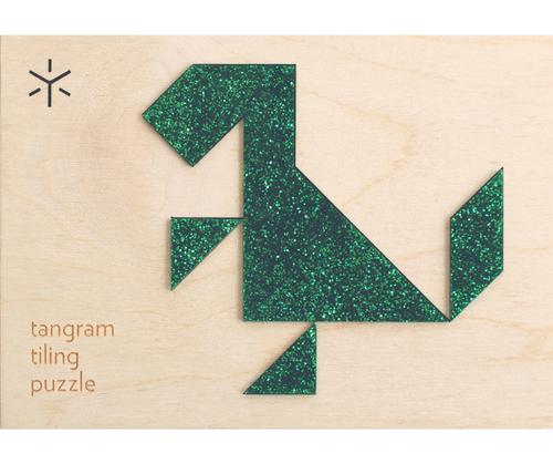 Tangram Tiling Puzzle - Dinosaur