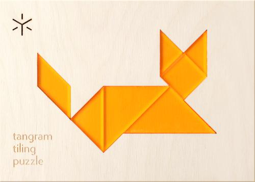 Tangram Tiling Puzzle - Cat