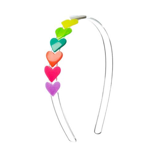 Centipede Neon Heart Headband
