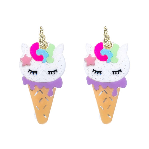 Unicorn Glitter Ice Cream Cones
