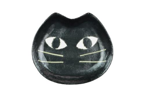 Washi Black Cat Face Tray