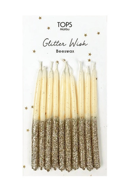 """Glitter Wish Candles Gold 4"""""""