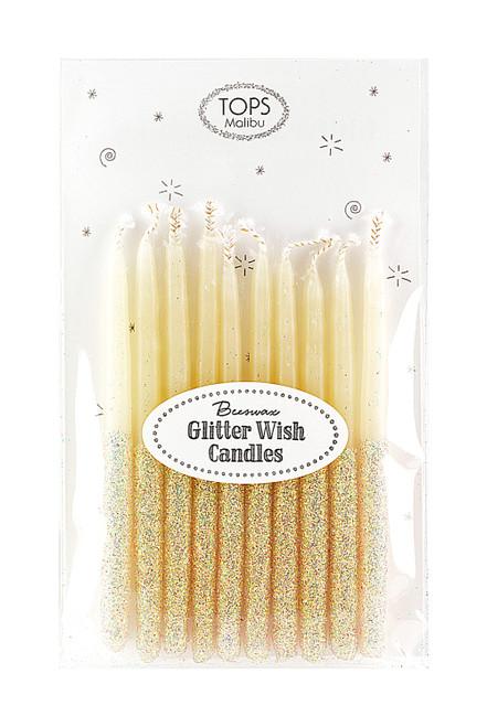 "Glitter Wish Candles Multi Color 4"""