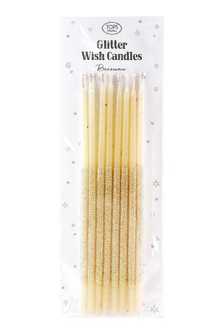 "Glitter Wish Candles Multi Color 6"""