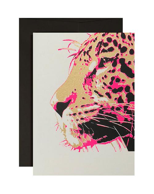 Cougar Neon Pink & Black Card