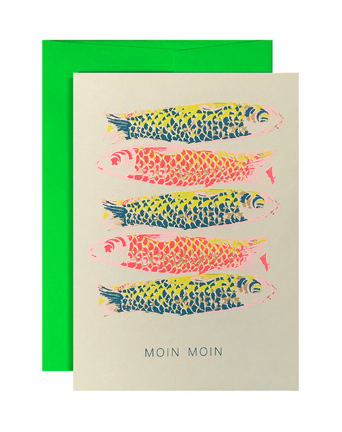Moin Moin Neon Pink & Blue Card