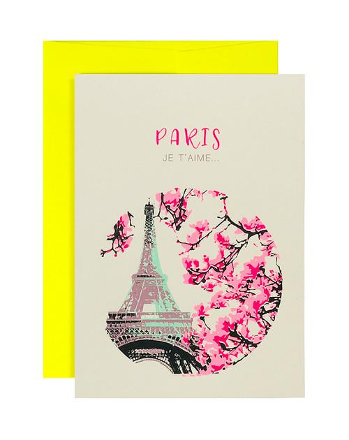 Paris Je Teime Neon Yellow Card
