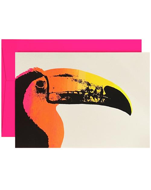 Toucan Neon Orange & Black Card