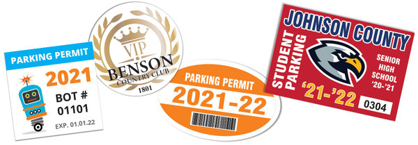 Parking Permit Clings