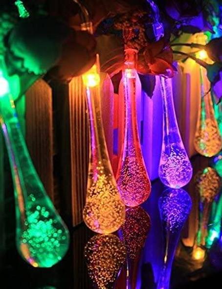 Raindrop Solar Fairy Lights