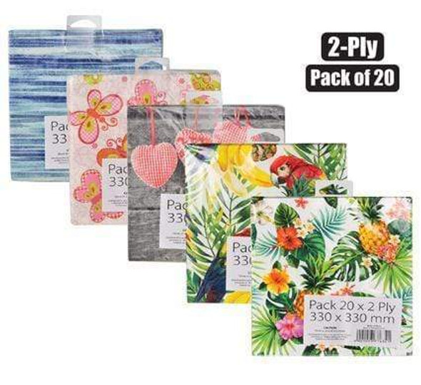 assorted-2-ply-serviettes-pack-of-20-bright-snatcher-online-shopping-south-africa-29842111463583