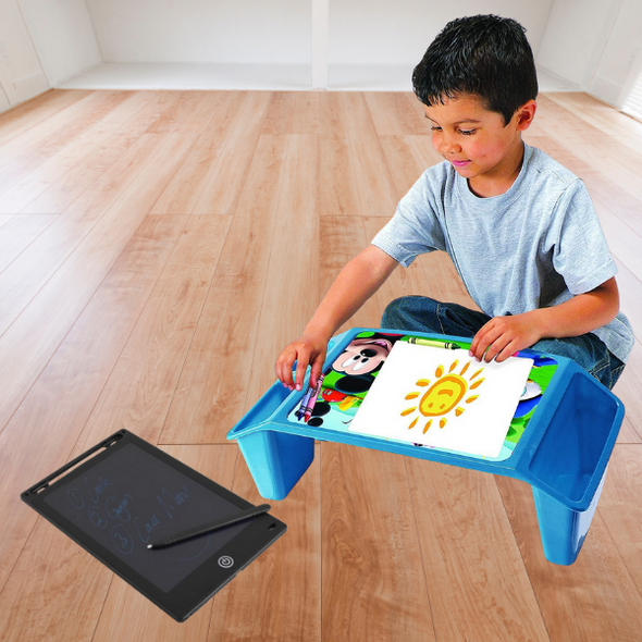 Kiddies Mobile Lap Desk And LCD Sketch Tablet - Combo
