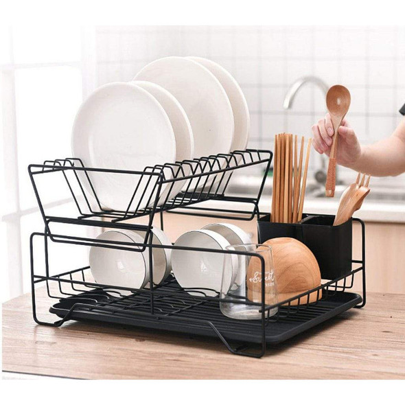nordic-carbon-black-2-tier-stainless-steel-dish-rack-snatcher-online-shopping-south-africa-29807368765599.jpg