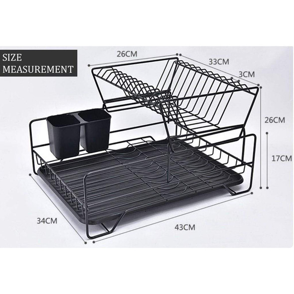 nordic-carbon-black-2-tier-stainless-steel-dish-rack-snatcher-online-shopping-south-africa-29807368798367.jpg