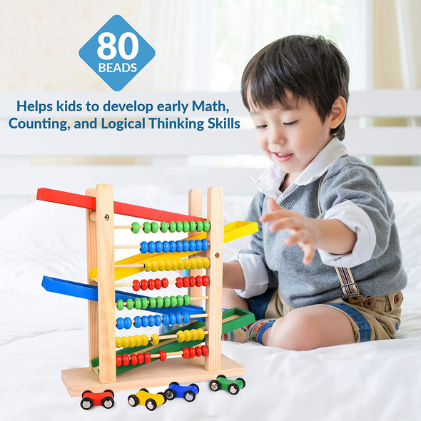 3 in 1 Kids Wooden Abacus Set