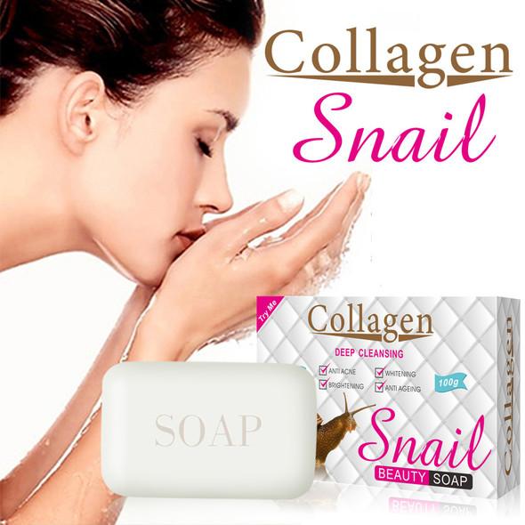 100g Collagen Snail Whitening Soap