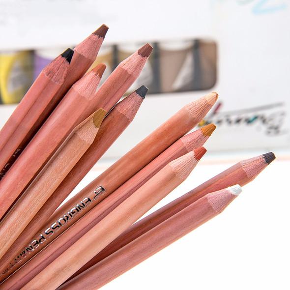12 Skin Tints Soft Pastel Pencils