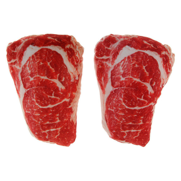 Set of 2 Pet Meat Squeaky Chew Toy