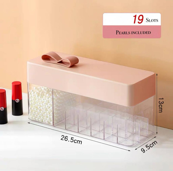 19 Slots Lipstick Holder with Pearls