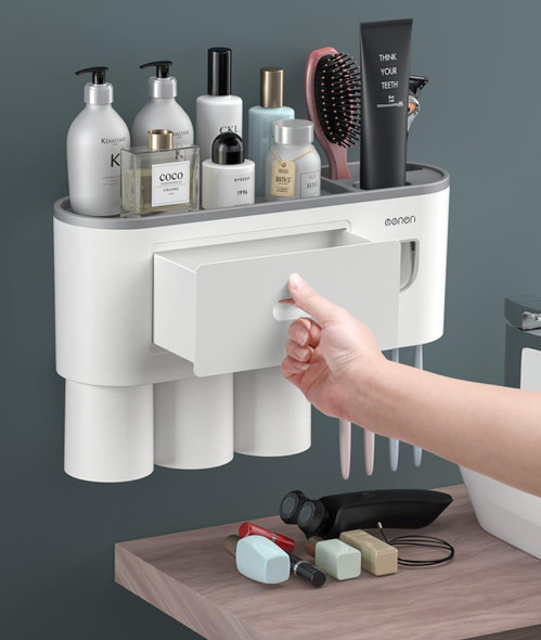 2 in 1 Toothbrush & Tooth Paste Holder