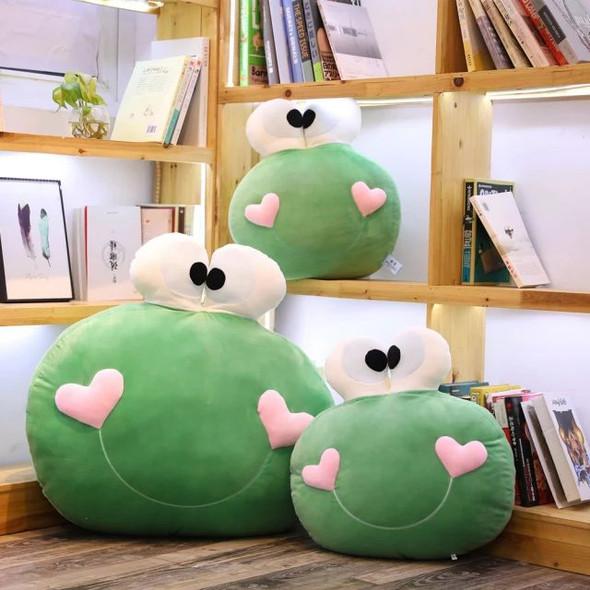 Ultra Soft Cuddly Stuffed Green Frog-Shaped Throw Pillow