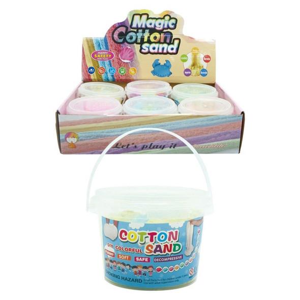 DIY Colorful Cotton Sand Mini Bucket