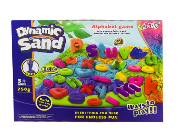 Dynamic Kids Play Sand