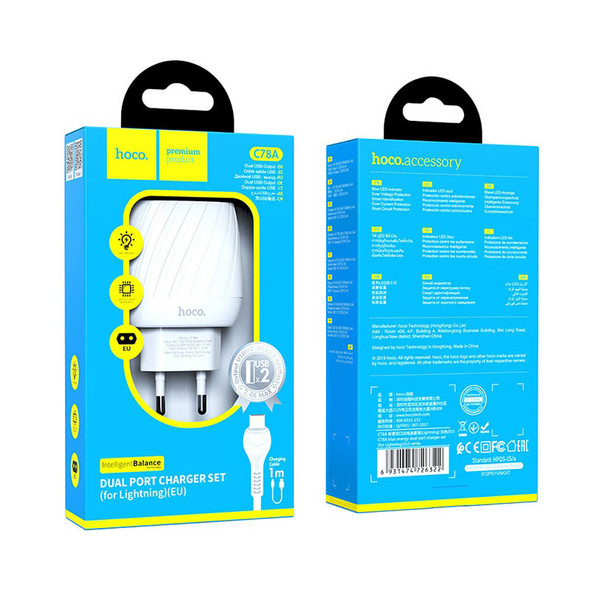 Hoco C78A Max Energy Dual Port Wall Charger