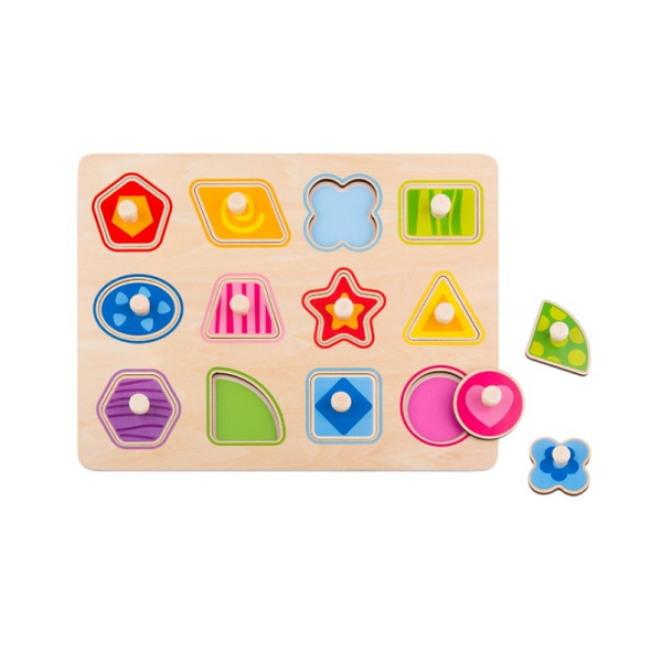 Nuovo Wooden Shape Puzzle - 12 Piece