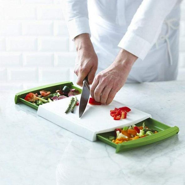 Chop 'N Clear Cutting Board & Zepter 6-Piece Knife Set Combo