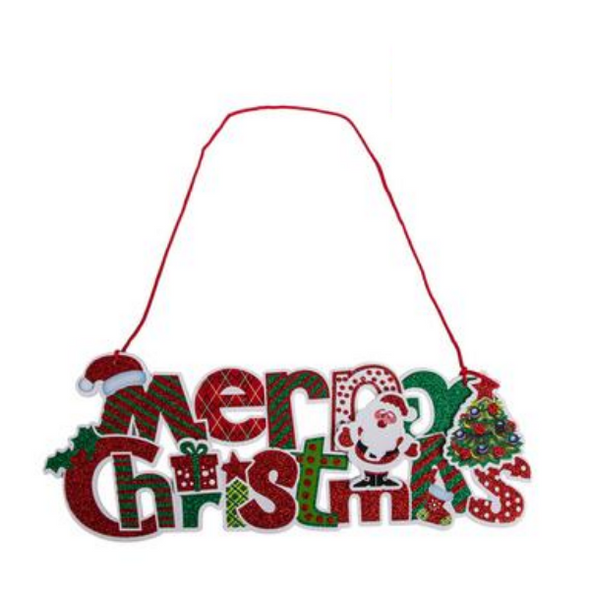 Hanging Plaque Merry Christmas