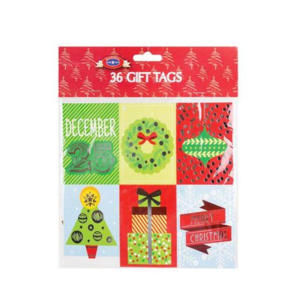 Festive Gift Tag - 36 Piece