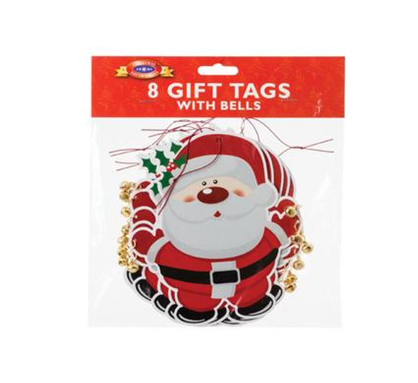 Giant Santa Gift Tags with Bell