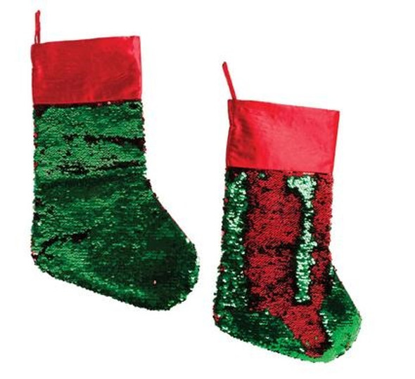 Christmas Dress Up Stocking with Sequins