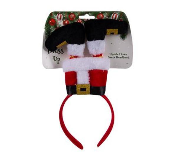 Xmas Dress Up Headband Santa Upside Down