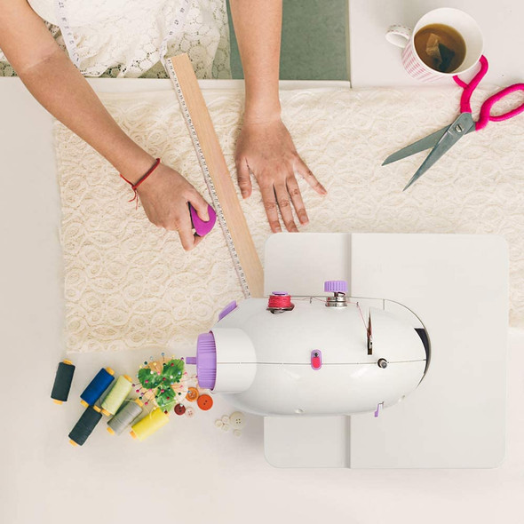 Portable Mini Sewing Machine with Extension Table