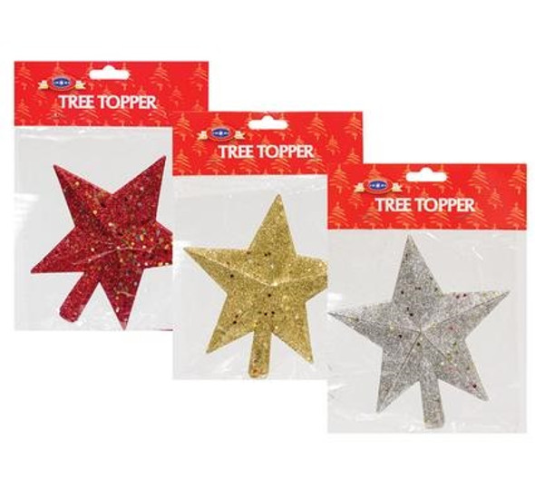 Xmas Tree Decor Star Tree Topper 15cm